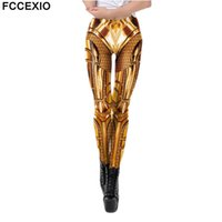 FCCEXIO Party Series Leggings The Wonders Magic Woman Movie Pattern 3D Imprimir Sexy Plus Tize Leggins Casual Entrenamiento Fitness Pantalones Fitness