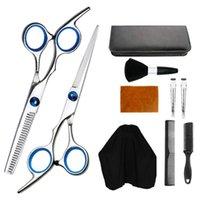 Hair Scissors 1 Set Of 10pcs Haircut Tools Professional Cutting Thinning Shears Comb Clips Brush Cape