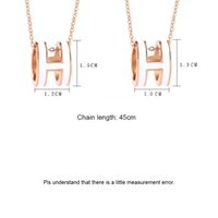 H-Brief Anhänger Fahsion Kette Badeschmuck Weibliche Schlüsselbein 18K Roségold Titan Stahl Halsketten Großhandel