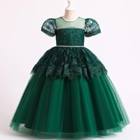 Girl's Dresses Lace Kids Dress For Girls Wedding Girl Princess Party Pageant Formal Gown Teen Children Year