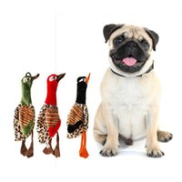 Dog Toys & Chews Pet Plush Puppy Squeaky Chew Small Dogs Sound Interactive Birds Shape Supplies