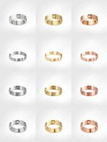 love screw ring mens rings classic luxury designer jewelry women steel Alloy Gold-Plated Gold Silver Rose Never fade Not allergic -