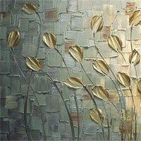 Textura hecha a mano enorme pintura al óleo abstracta abstracta moderna lienzo arte decorativo cuchillo flor pinturas para la decoración de la pared1 655 R2