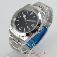 Montres-bracelets Bliger Black Noir / Bleu Cadran Miyota 8215 Automatique Hommes Montre Bracelet huître Marques lumineuses Bézel poli
