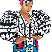 Ethnic Clothing African Dresses For Women Spring Autumn Africa Long Sleeve Dress Sexy V-Neck Perspective Slim Office Lady Party