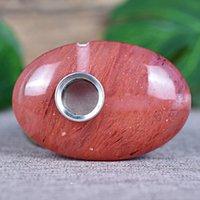As vendas diretas da fábrica do punho da palma da palma da palma de cristal de pedra perfurada vermelha