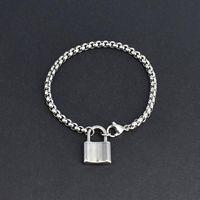 Stainless Steel Women Charm Jewelry Fashion Wild Temperament Padlock Pendant Bracelets Chain Gift Accessories Link,