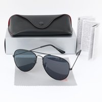 Ray Luxury 2021 Marque Hommes polarisés Femmes Pilote Sunglasses UV400 Eyewear Bans pour Womens Metal Cadre Polaroid Lentille 3025