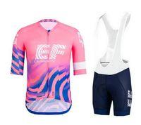 Yarış Setleri 2021 EF Eğitim İlk Pro Ekibi Pembe erkek Bisiklet Jersey Kısa Kollu Bisiklet Giyim Biber Şort Ropa Ciclismo