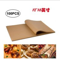 Baking & Pastry Tools Natural Color Silicone Oil Paper Barbecue Non-stick Steamer Air Fryer Pad 100 Pieces Of Parchment