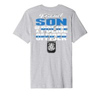 Гордый сын полицейского тонкая синяя линия COM семейный подарок премиум футболка