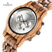 Chronograph Quartz Watch His و Hers ساعات خشبية للزوجين اليدوية المعصم مع تقويم هدية مربع المعصم