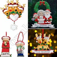 수지 맞춤 사슴 가족 2 3 4 5 6 7 머리 크리스마스 트리 장식품 2021 귀여운 산타 사슴 겨울 선물 무료 배달
