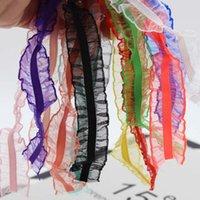 25mm transparent organza volant ruban étirement ruban élastique rickrack bande tresse bande vêtement chemise couse accessoires de vêtement