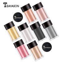 Teayason Gözler Makyaj Pigment Pırıltılı Metalik Göz Farı Gevşek Tozu 6 Renkler Göz Farı Vurgulayıcı Vurgulama