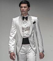 Men's Suits & Blazers Arrival One Button Groomsmen Shawl Lapel Groom Tuxedos Men Wedding Prom Blazer ( Jacket+Pants+Tie) D106