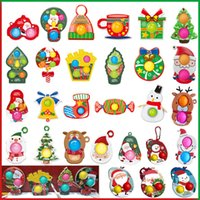 Christmas Ornament Pop Fidget Toys Push Bubble Sensory Fidgets Simple Dimple Popper Tree Gift Set for Kids Teens Adults