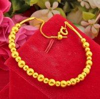 Link, Chain Hi Transport Bead Bracelet Female 24k Gold Hand Party Friend Birthday Gift Girl Fine Jewelry Womens