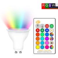 Birnen GU10 LED-Birne 16 Farben IR-Fernbedienung RGB-Lampe Speicherfunktion RGBW RGBWW GU 10 Scheinwerfer 8W Home Decoration