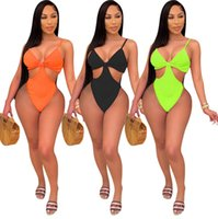 summer Women candy color one piece swimwear sexy swimsuit fashion hollow out bathing suit onesie bikini bodycon swimsuits Plus size T322
