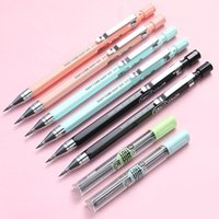 Ballpoint Pens 2.0mm Candy Color Mechanical Pencil Drawing Writing 2B Propelling Pencils For Kids Girl Gift School Supplies Students Station