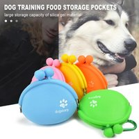 Dog Car Seat Covers Outdoor Pet Food Treat Bag Silicone Walking Training Storage Pockets Waist Hold Travel Product