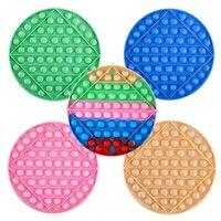 Giocattoli di decompressione degli stock degli Stati Uniti 20cm Push Bubble Fidget Toy Party Favore Grande gioco alfanumerico in silicone rotondo