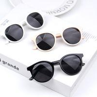 Free DHL Boys Girls Fashion Lovely Sunglasses Kids Classic Oval Eyeglasses Eyewear Summer Beach Outdoor Sports Children UV Protection Sun Glasses
