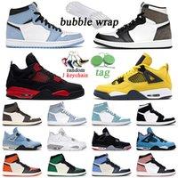 2021 Hommes Femmes Jumpman 1 Chaussures de basket-ball rétro 1S Université Bleu 4 4S Noir Chat Blanc Blanc Oreo Vailleuse Trainer Sport Sport