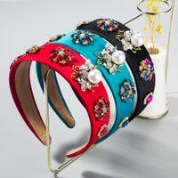 Boutique пчелы сплошной цвет оголовья для женщины барокко смоделированы геометрические кристаллические цветы BiDal Tiara Crowns свадебные аксессуары