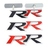 3D Metal RR Logo Emblem Badge Decals Front Back Trunk Car Stickers For Honda RR Civic Mugen Accord Crv City Hrv Car Styling