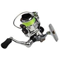 Mini 100 bolso girando carretel de pesca tackle pequeno 4,3: 1 roda de metal Pesca Baitcasting bobinas