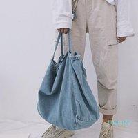 Designer-School Bags Big Capacity Denim Cloth Bag Original Design Simple Casual Canvas Beach Women Personality Foldable Travel Shopping