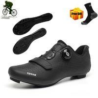 أحذية الطريق ركوب الدراجات الرجال MTB الدراجة الجبلية رياضية في الهواء الطلق الرياضة الأسود خفيفة zapatillas ciclismo الذاتي قفل دراجة أحذية