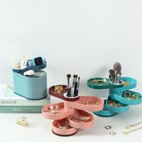 Jewelry Pouches, Bags Rotating Box Desktop Shelves Jewellery Storage Pen Holder Cosmetic Sundries Sorting Container Gift For Women