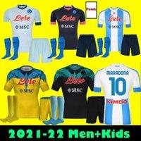 menAdult kids full kits 20 21 napoli soccer jersey 2021 home Naples HAMSIK INSIGNE MERTENS H.LOZANO MARADONA fourth football jerseys shirt