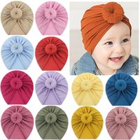Baby Cap Accessories For Newborn Toddler Kids Babys Girl Boy Turban Beanie Hat Winter Knot Solid Soft Caps