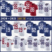 19 Kenny Golladay Football Jersey 26 Saquon Barkley 8 Daniel Jones 87 Sterling Shepard 10 Eli Manning 56 Lawrence Taylor 92 Michael Strahan Stitched Jerseys