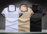 Mode de luxe Classic Hommes Chemise imprimée Coton Designer pour hommes T-shirt Blanc Black Designer Polo Chemise Mâle M-3XL