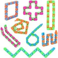 Wacky Tracks Snap Fidget Toys Puzzles Snake Click Sensory Toy Strümpfe Stuffer für Kinder Erwachsene Fokus GWB5776