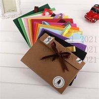24*18*0.7cm bow Envelope Kraft paper pocket bag Kerchief Handkerchief Silk scarf packing boxes Envelope box LX0583