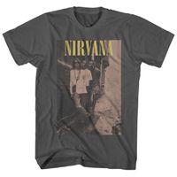 Nirvana Cobain T-shirt da uomo 2021 estate retrò rock tshirt 100% cotone abbigliamento hip hop streetwear maschio casual t-shirt uomo