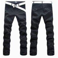 3 цвета мужские брюки повседневные брюки длинные брюки мода повседневная тонкая подходит для бизнес брюки дизайн кнопки
