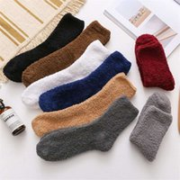 Autumn New Style Winter Thick Casual Women Men Socks Solid Thickening Warm Terry Fluffy Short Cotton Fuzzy Male1