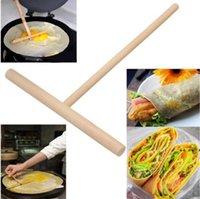 NewChristmas Chinese Specialty Crepe Maker Bancake Battle Tool Деревянный разбрасыватель Палочка Главная Кухня Инструмент Ресторан Столовый Специально поставки EWF5