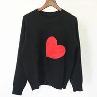 Hoher Qualität Damen Pullover Designer Langarm Winter Neue Flockung Liebe Temperament Pendel Crew Hals Langarm Strickwutsame Pullover