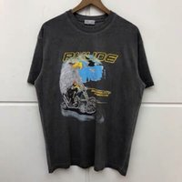 RHODE футболка промыт сделать старый орел Top Tees мужчин женщин высокое качество повседневная уличная одежда Rhody T-рубашки