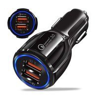 QC3.0 Portable Car Charger Led Quick Charging 12V 3.1A Dual USB Port for Smart Phone