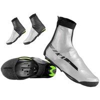 Radfahrenschuhe 1 Paar Fahrradschuh Abdeckung Wasserdicht Winddicht Halten Sie Warme Überschuhe Reitausrüstung schwarz + grau
