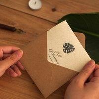 Tarjeta de felicitación del festival de otoño de mediados de la Navidad de la Navidad Amarillo Bendición de la tarjeta pequeña tarjeta de la madre Mensaje de la tarjeta Mensaje de la tarjeta Sobre Set OOD5602